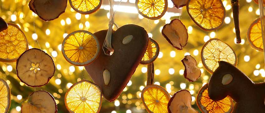 decorazioni con arance